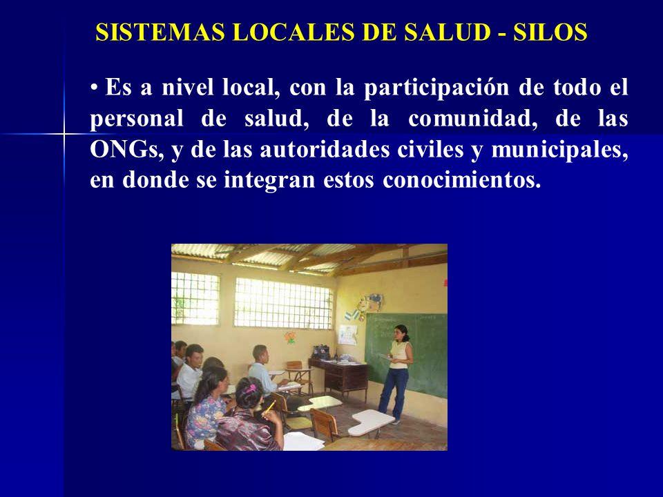 Es a nivel local, con la participación de todo el personal de salud, de la comunidad, de las ONGs, y de las autoridades civiles y municipales, en dond