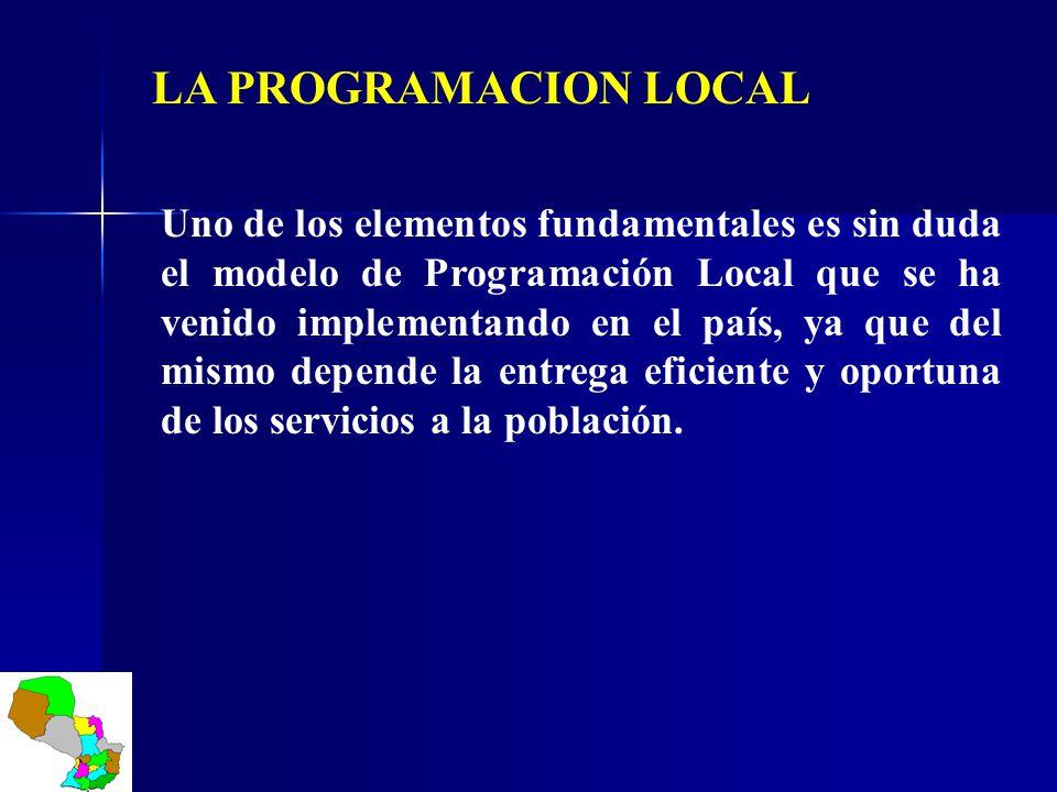 Uno de los elementos fundamentales es sin duda el modelo de Programación Local que se ha venido implementando en el país, ya que del mismo depende la
