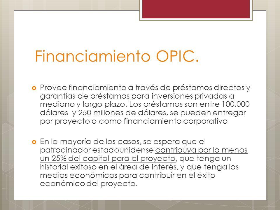 Provee financiamiento a través de préstamos directos y garantías de préstamos para inversiones privadas a mediano y largo plazo. Los préstamos son ent