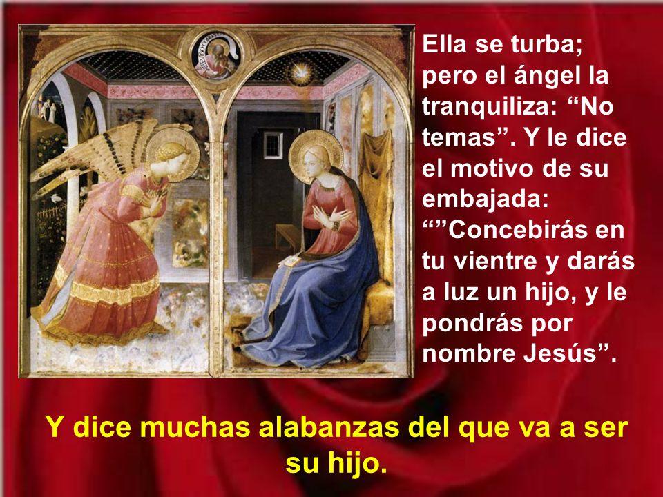 Se presenta un enviado de Dios, un ángel que la saluda: Alégrate, llena de gracia, el Señor está contigo.