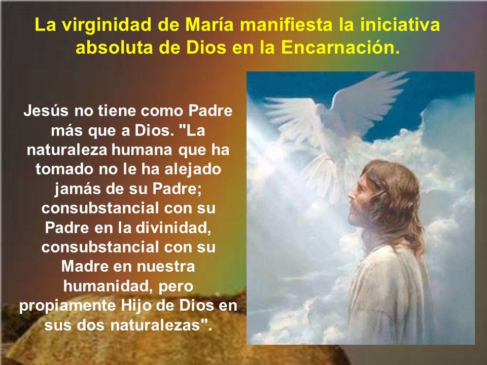 Al ser concebido Jesús por obra y gracia del Espíritu Santo, nos está diciendo la Iglesia que María fue virgen.