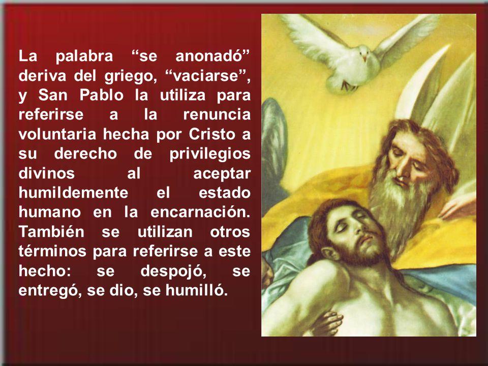 Les propone ahora, como acicate, un formidable ejemplo: la humillación de Cristo que desemboca en su glorificación.