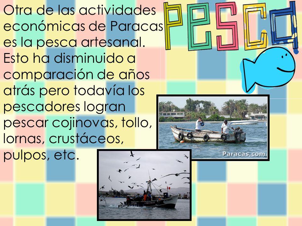 Otra de las actividades económicas de Paracas es la pesca artesanal.