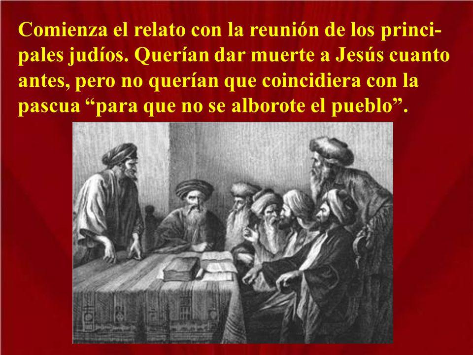 Negros nubarrones venían sobre el alma de Jesús, quien iba a Jerusalén a morir por nosotros. En el evangelio de este día se lee la Pasión según san Ma