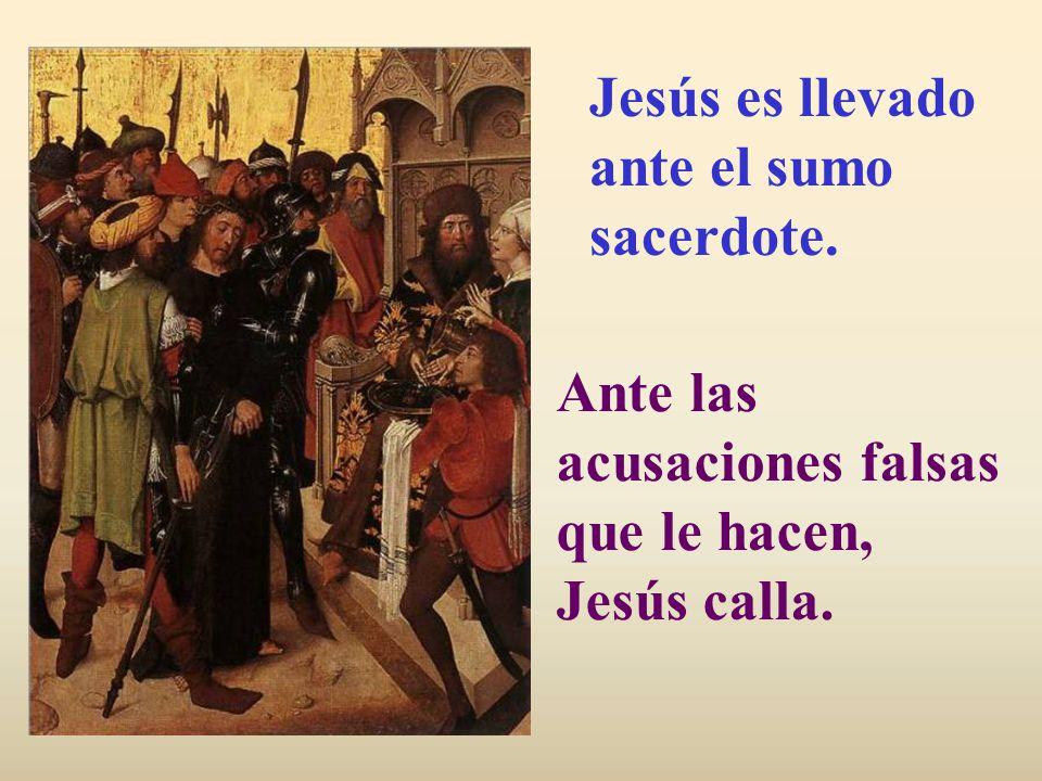 Llegan los sicarios, enviados por los jefes de los sacerdotes. Al frente viene Judas que rubrica con un beso su traición.