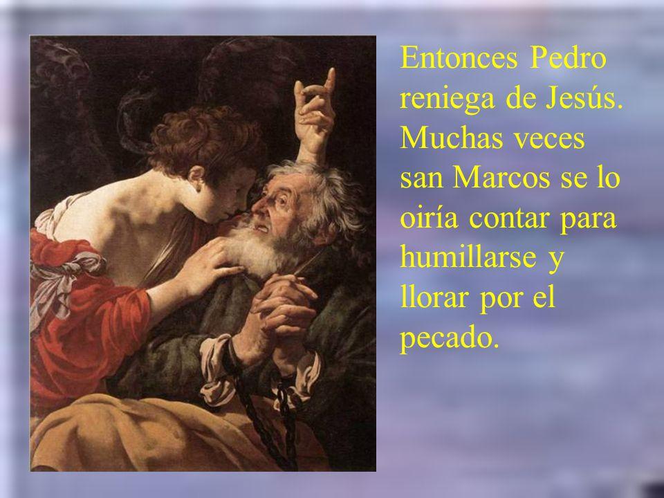Caifás condenando a Jesús, rasga hipócrita- mente sus vestiduras y da pie para que comiencen los escarnios. A Caifás, que le pregunta si es el Mesías,