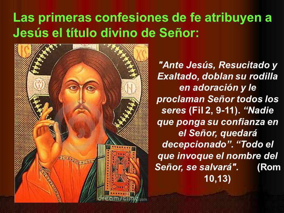 Así pues, en la Biblia aparece cómo unos años después de la muerte de Jesús, se le llama Señor con todas las consecuencias. Dice san Pablo que los prí