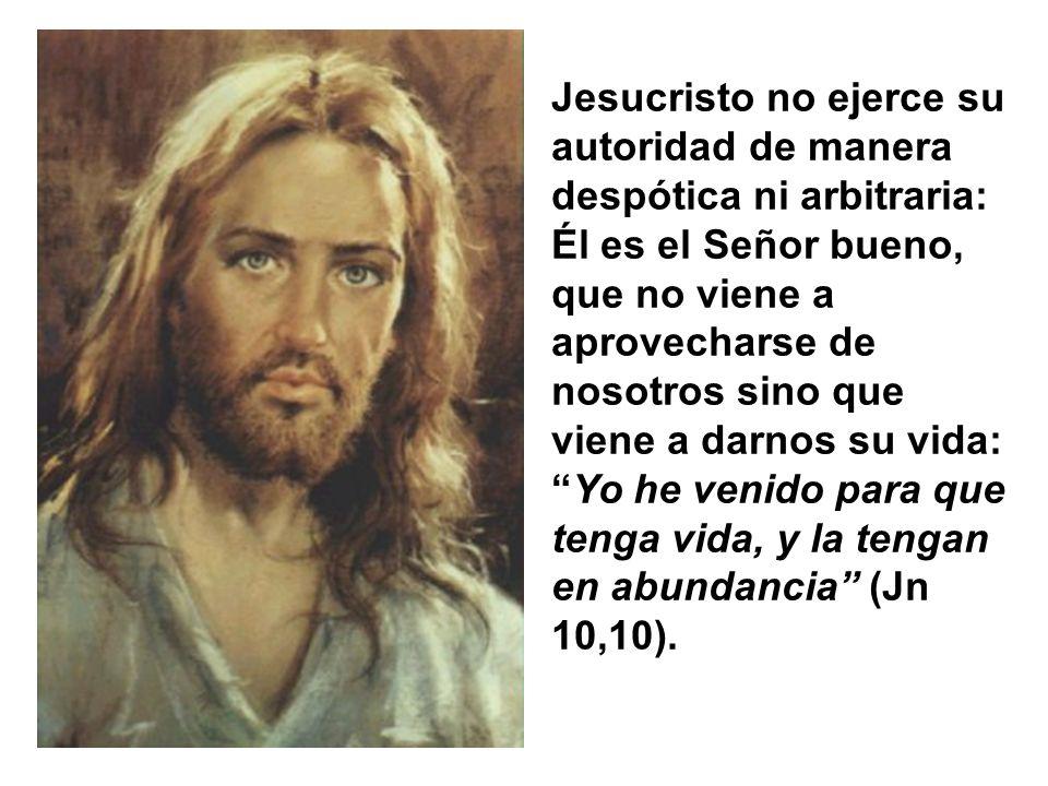 Jesús viene a enseñar a la humanidad con su ejemplo quién es él y vemos en la Palabra revelada, el modo que tiene de manifestar su señorío sobre todas
