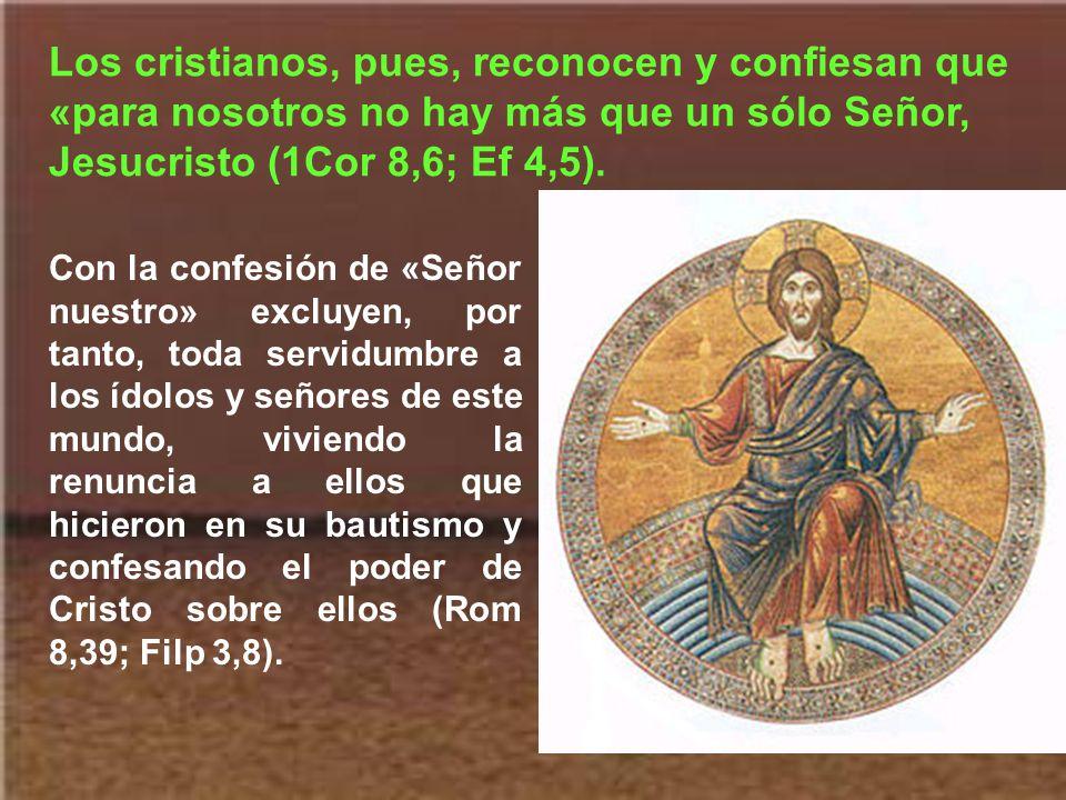 El verdadero siervo del Señor lo es exclusivamente de él. Se trata de un servicio exclusivo, pues nadie puede servir a dos señores (Mt 6,24). Esto no
