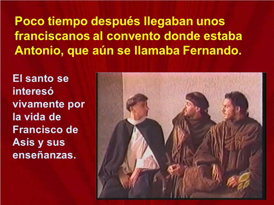 En el año 1220 el rey don Pedro de Portugal trajo de Marruecos las reliquias de unos franciscanos martirizados. Hubo una gran conmoción, también entre