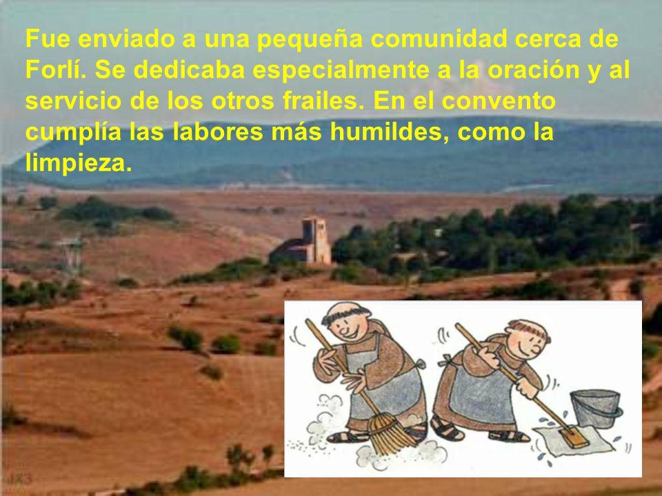 Cuando se repuso, Antonio con algunos compañeros se dirigió a Asís al capítulo general, convocado por san Francisco, para el 20 de Mayo de 1221. San A