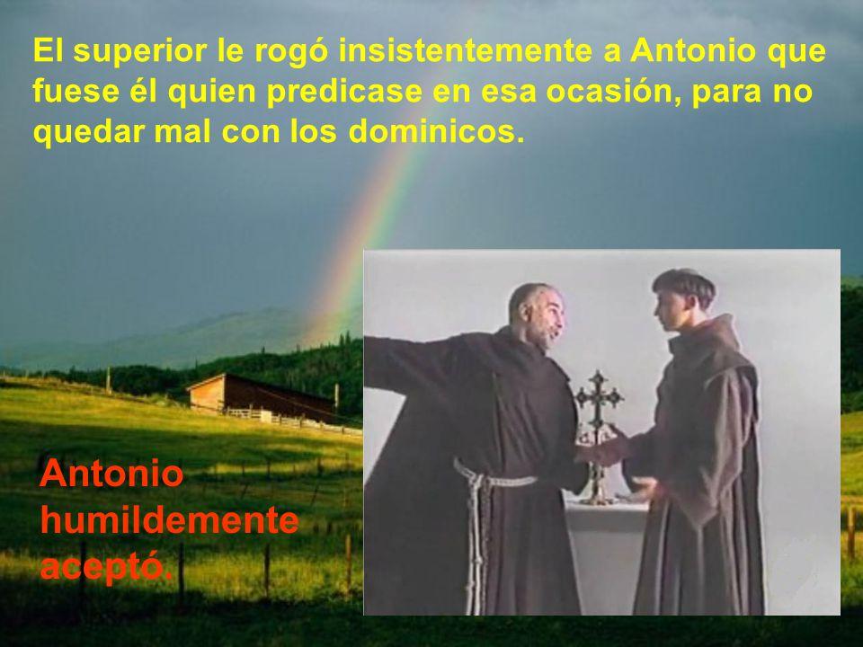 Iba a celebrarse una ordenación sacerdotal de dominicos y franciscanos en Forlí. Normalmente predicaba algún dominico; pero por un mal entendido ningu