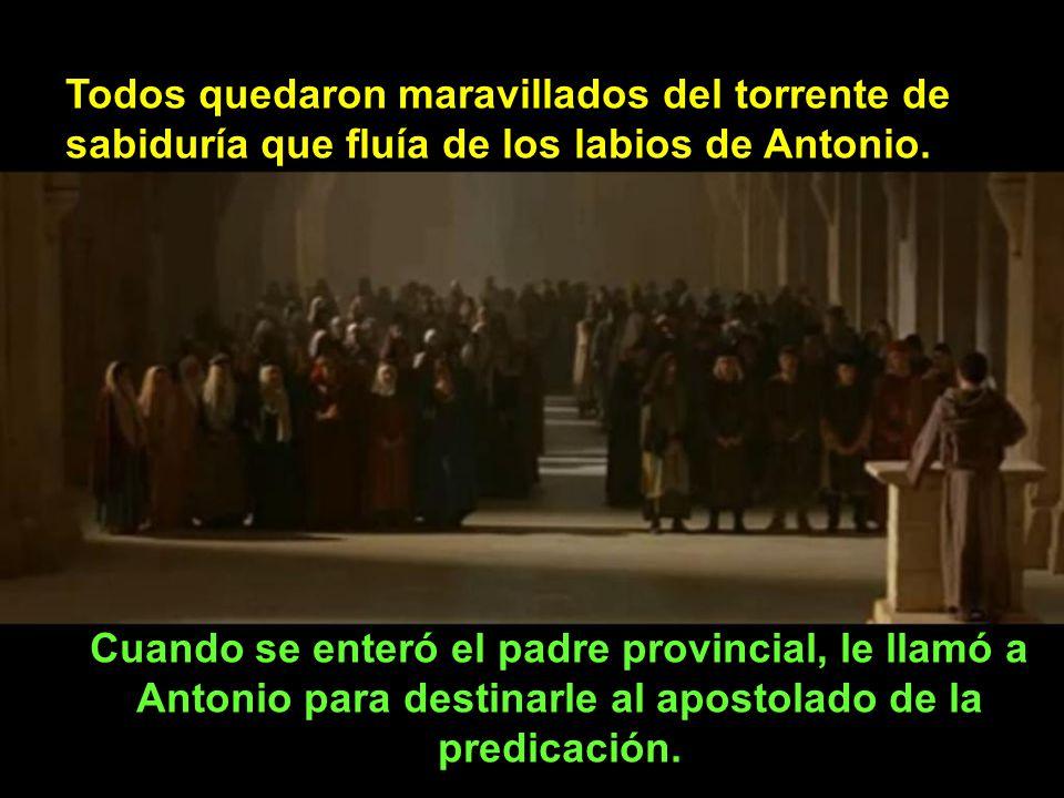 El superior le rogó insistentemente a Antonio que fuese él quien predicase en esa ocasión, para no quedar mal con los dominicos. Antonio humildemente