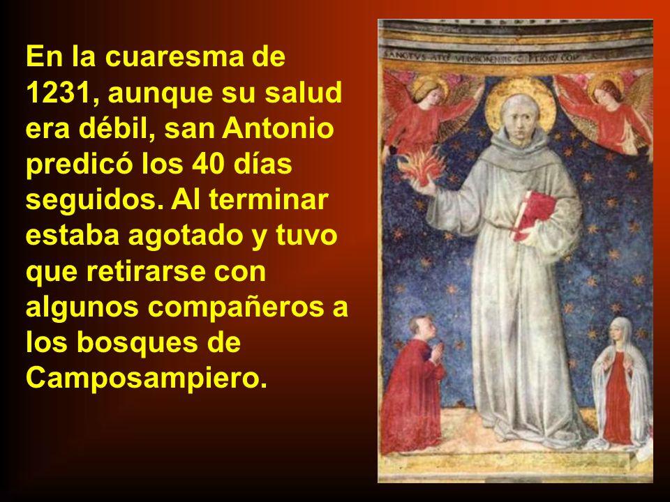 San Antonio fue enviado por el capítulo general de 1226 an- te el papa, para exponerle las cuestiones surgidas entre los franciscanos. Aprovechó para