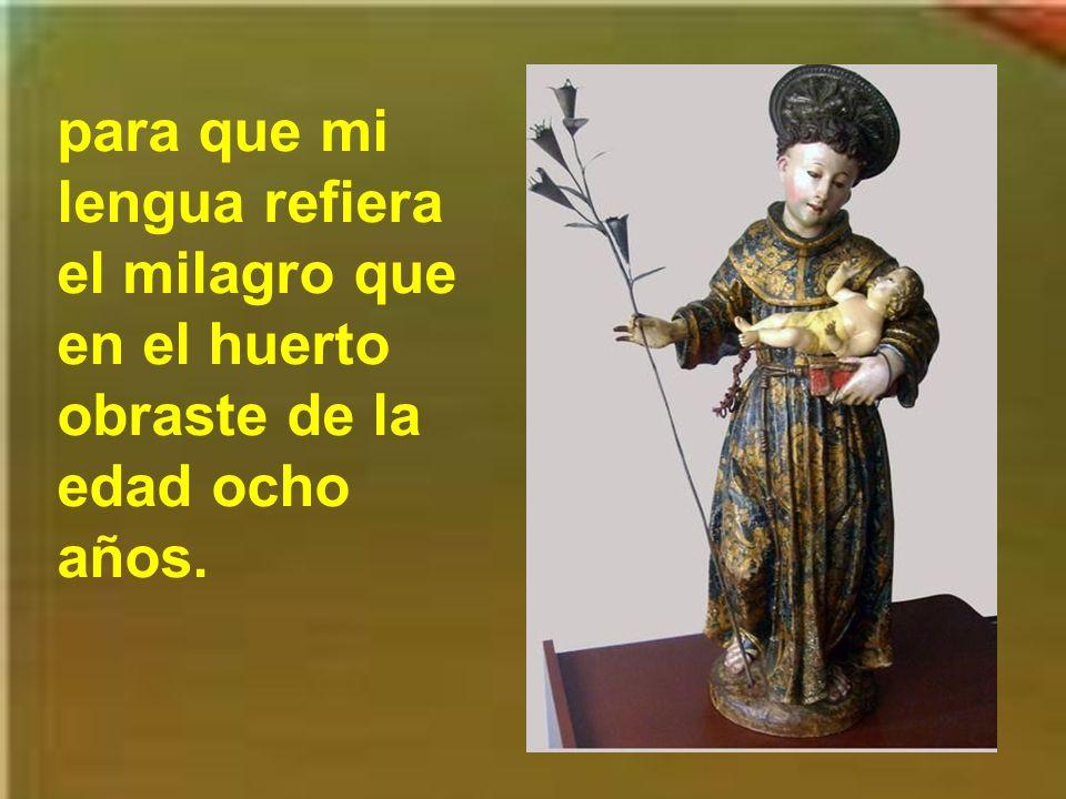Divino Antonio precioso, suplícale al Dios Inmenso que por tu gracia divina alumbre mi entendimiento. Automático