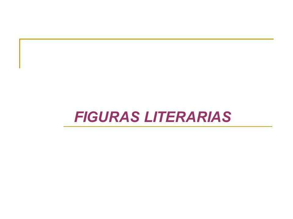 FIGURAS RETÓRICAS (figuras literarias) Constituyen un recurso del que dispone el poeta para expresar su mundo interior.