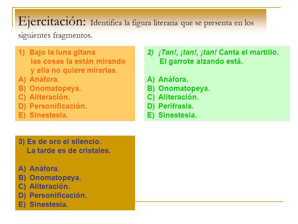 Figuras literarias FiguraDefiniciónEjemploExplicación Metáfora Comparación implícita, es decir, sin expresar el nexo correspondiente.