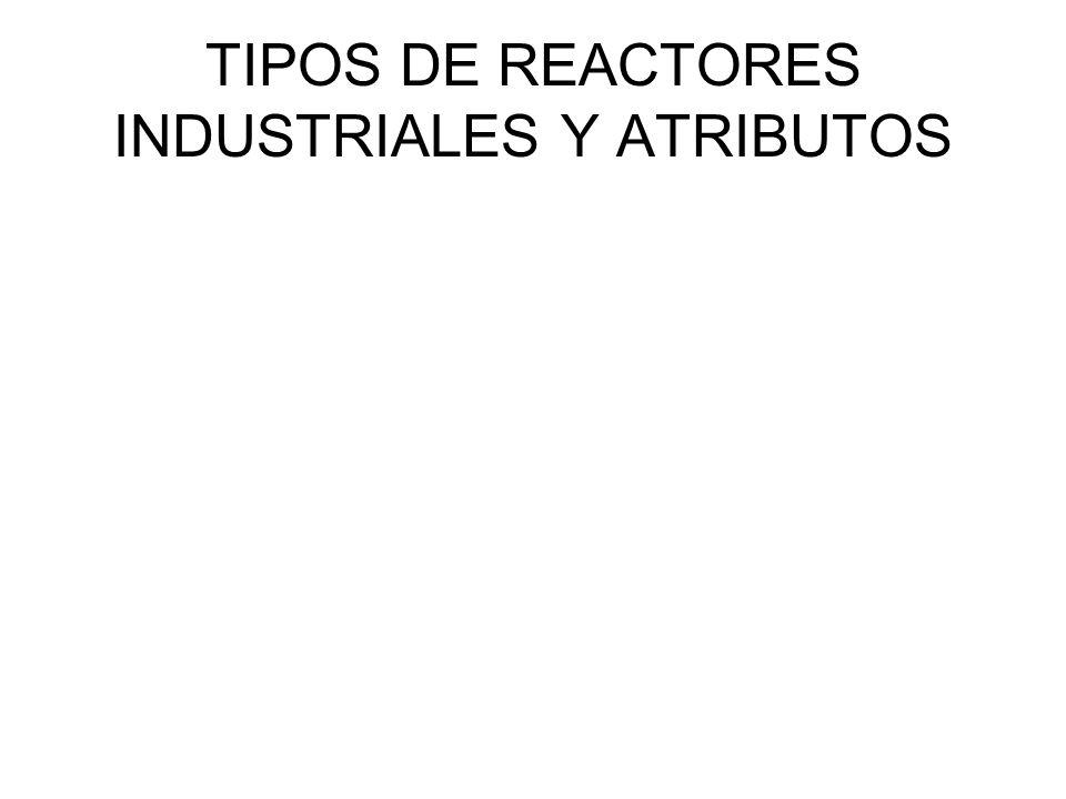 TIPOS DE REACTORES INDUSTRIALES Y ATRIBUTOS