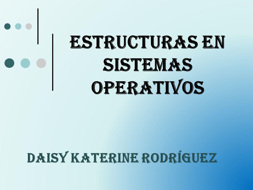 Estructuras en Sistemas Operativos DAISY KATERINE RODRÍGUEZ