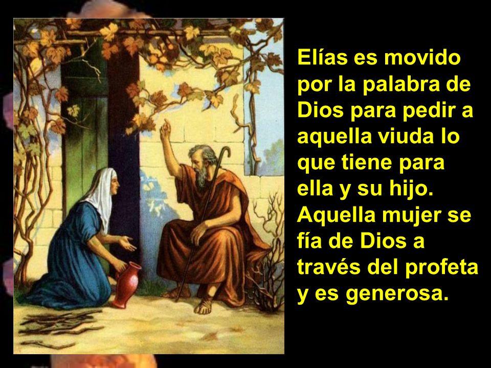 En aquellos días, el profeta Elías se puso en camino hacia Sarepta, y, al llegar a la puerta de la ciudad, encontró allí una viuda que recogía leña. L