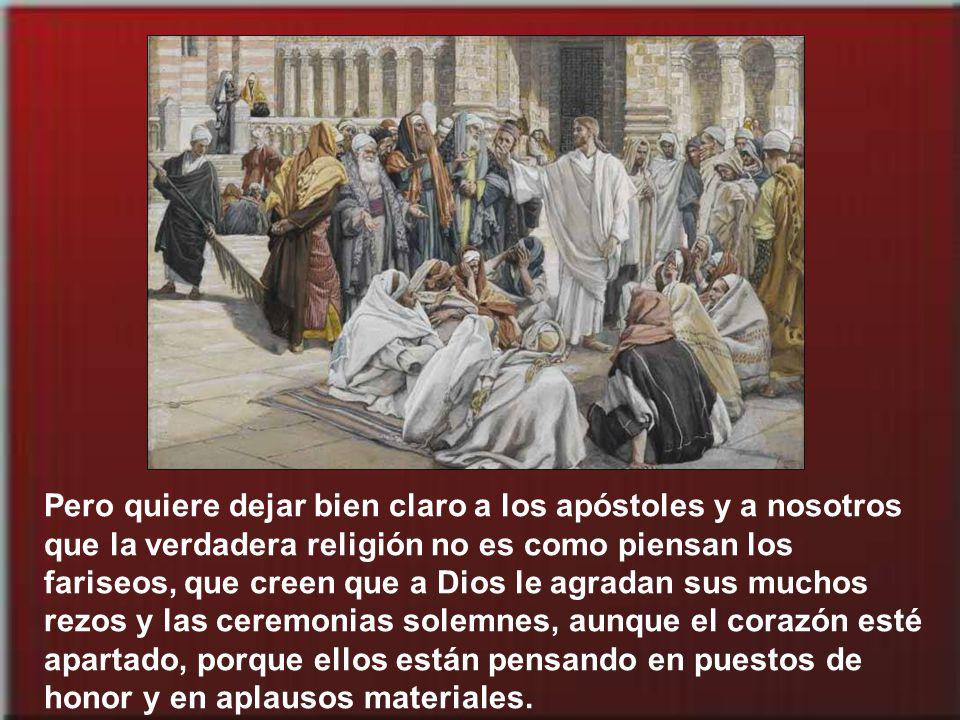 La escena del evangelio está situada en los últimos días de la vida de Jesús. Hay un clima de tensión con las autoridades religiosas de la nación. Jes