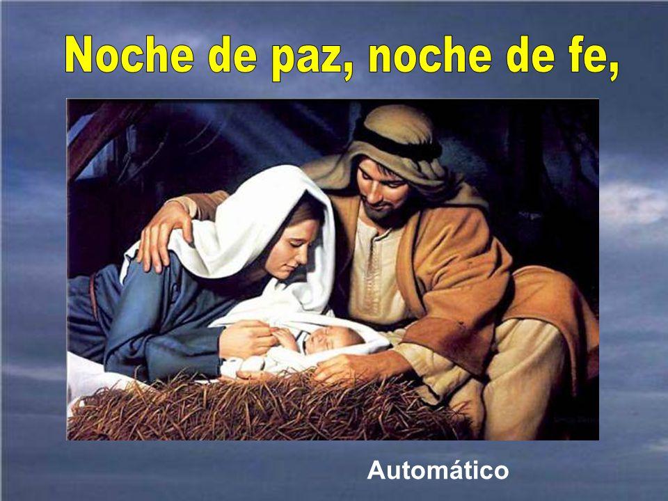 Y estando allí le llegó a María el tiempo del parto. Era de noche. Una noche de mucho amor y de PAZ.