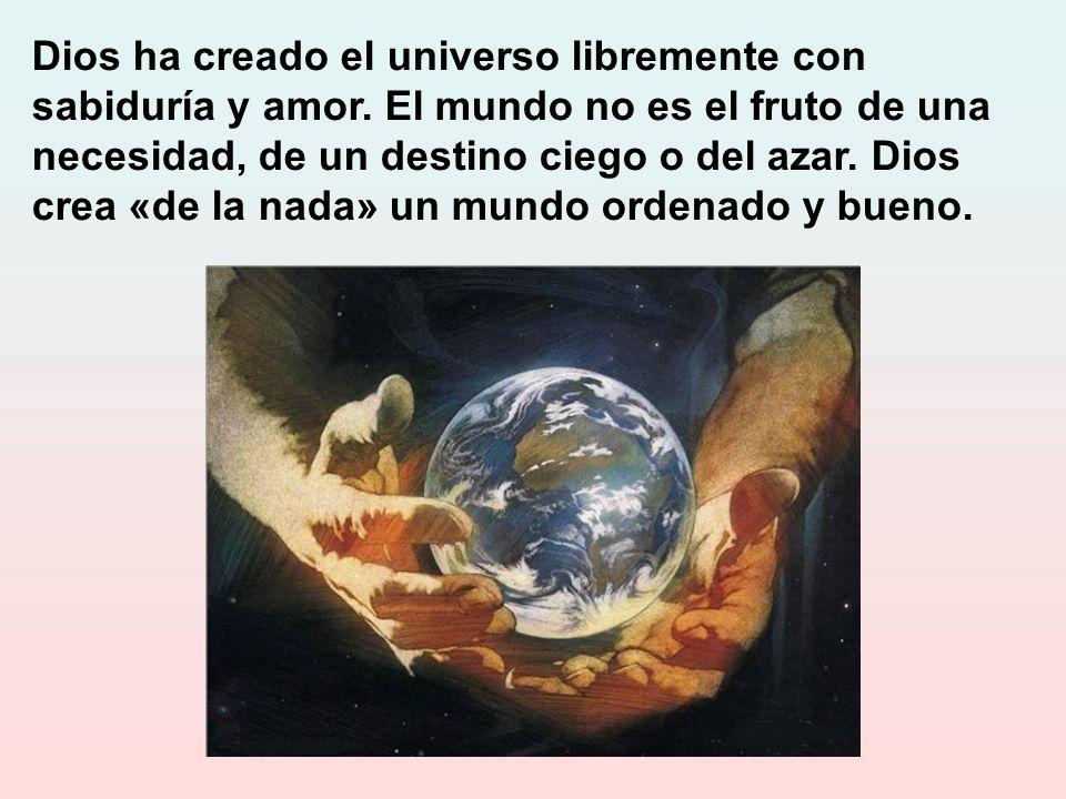 Porque Dios crea con sabiduría, la creación está ordenada: