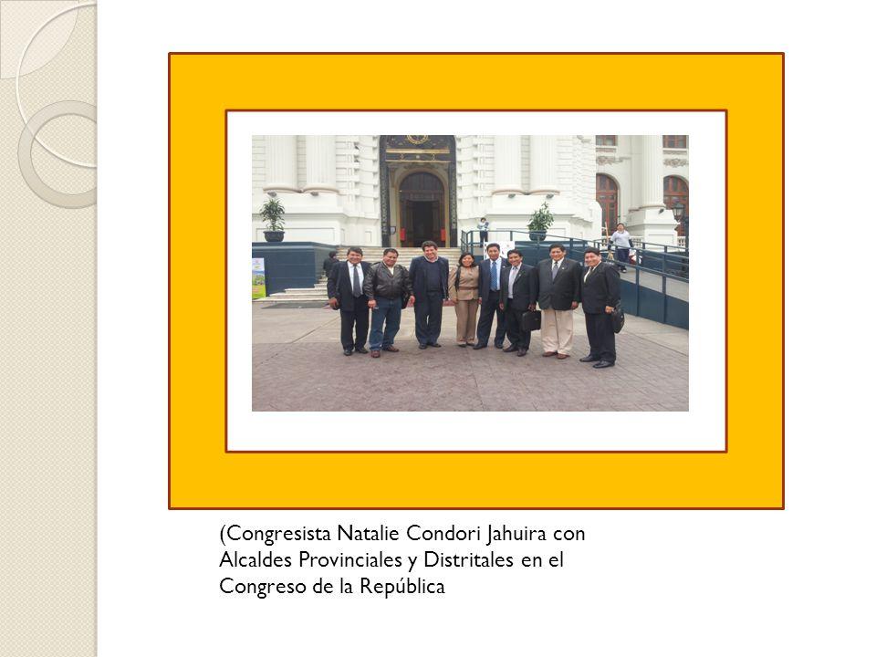 (Congresista Natalie Condori Jahuira con Alcaldes Provinciales y Distritales en el Congreso de la República