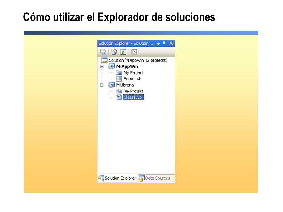 Cómo utilizar el Explorador de soluciones