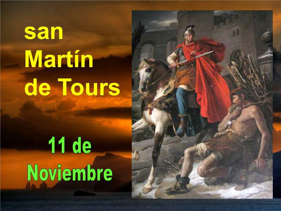 Esa noche el joven Martín vio que Jesucristo se le presentaba vestido con la media capa que él había regalado al pobre y oyó que le decía: Martín, hoy me cubriste con tu manto.