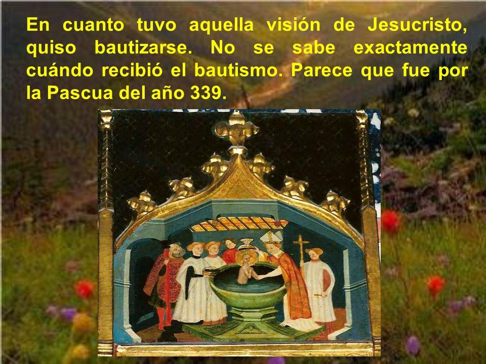 Martín decide entonces dejar el ejército romano y vivir como cristiano, lo cual no puede hacer hasta pasado un tiempo, al negarle su licencia el emper