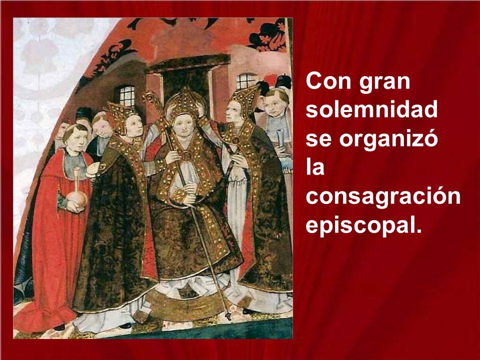 Apenas estuvo en la catedral toda la multitud lo aclamó como obispo de Tours, y por más que él se declarara indigno de recibir ese cargo, lo obligaron