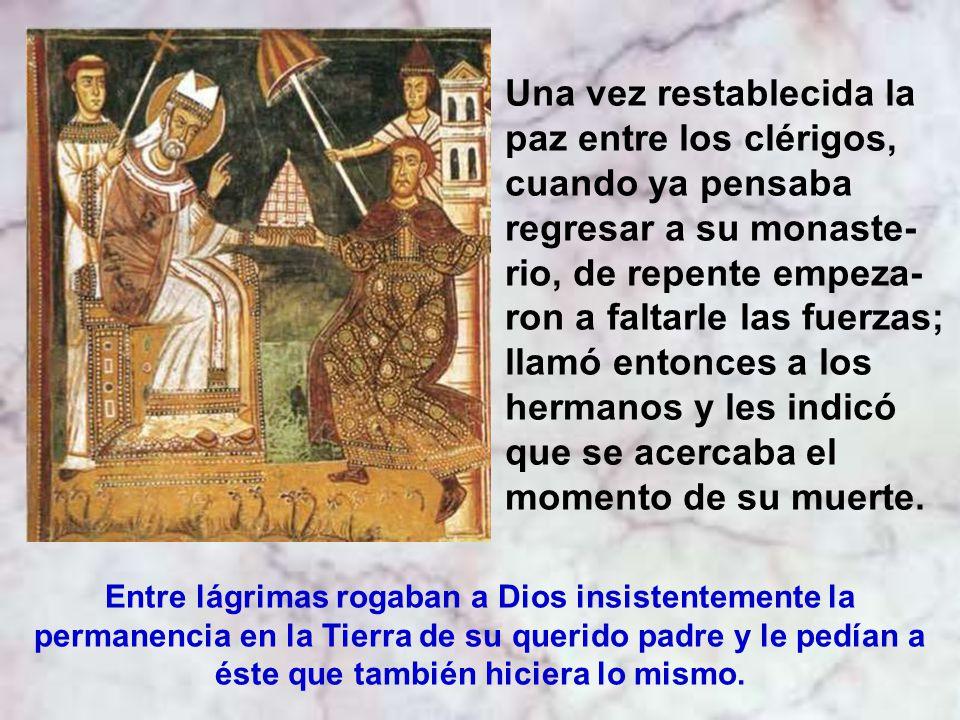 Cuando san Martín contaba cerca de 80 años de edad y sintiéndose agotado fue llamado a restablecer la paz entre los sacerdotes de la población de Cand
