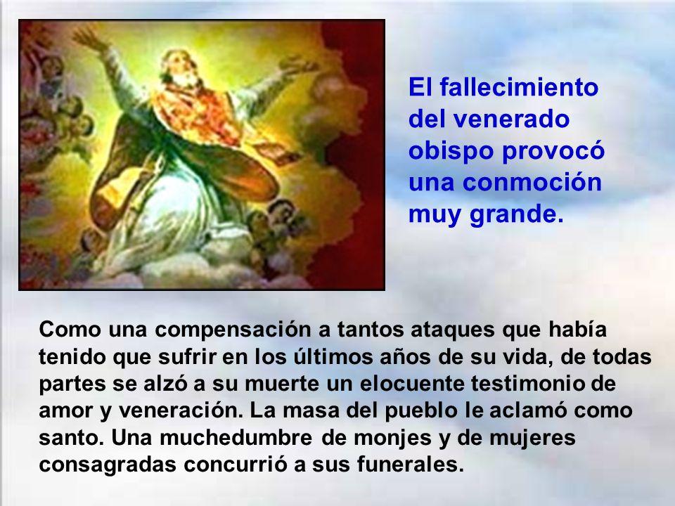 San Martín entregó su alma a Dios el 8 de noviembre del año 397. Tenía 81 años de edad. Su sepelio solemne se produjo 3 días después, el 11 de noviemb