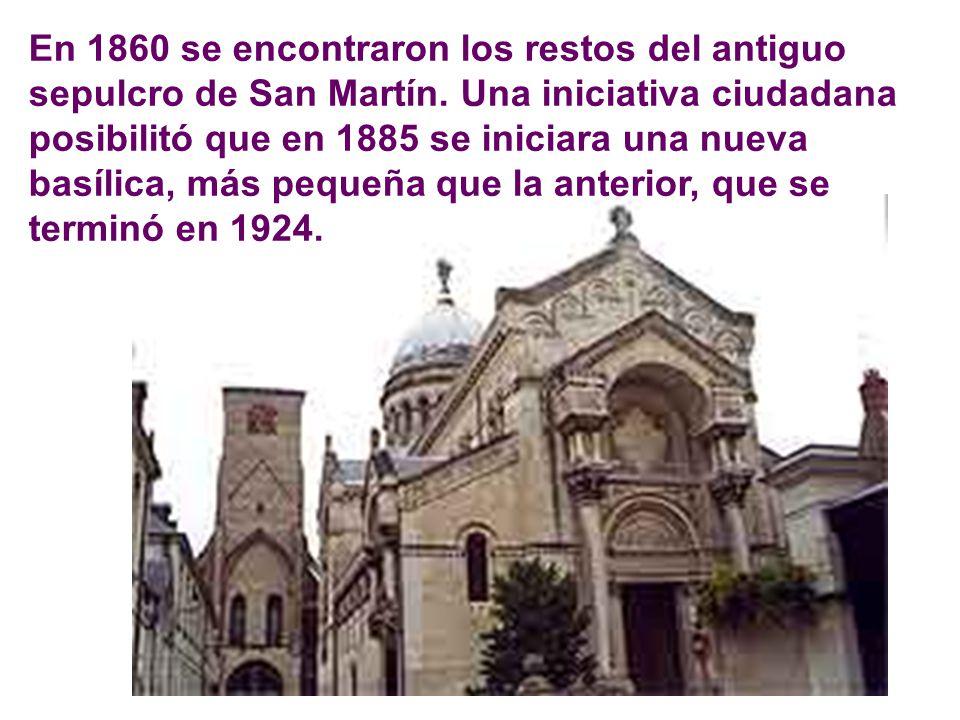 Pronto se elevó una modesta capilla sobre su tumba, que San Perpet (+ 490), sucesor suyo en Tours, transformó en una importante basílica. La primera b