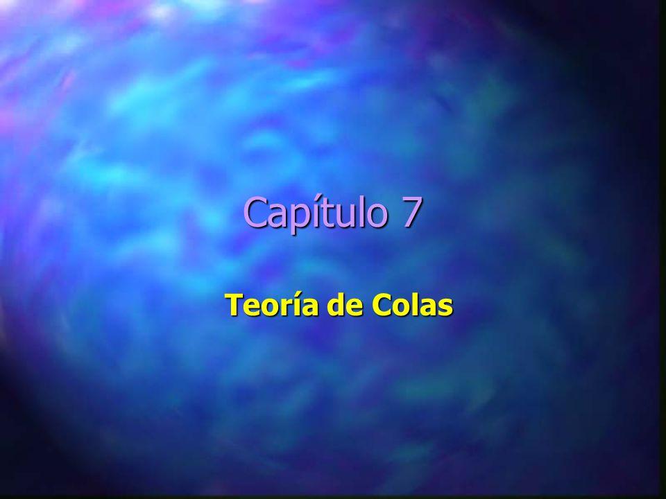 Capítulo 7 Teoría de Colas