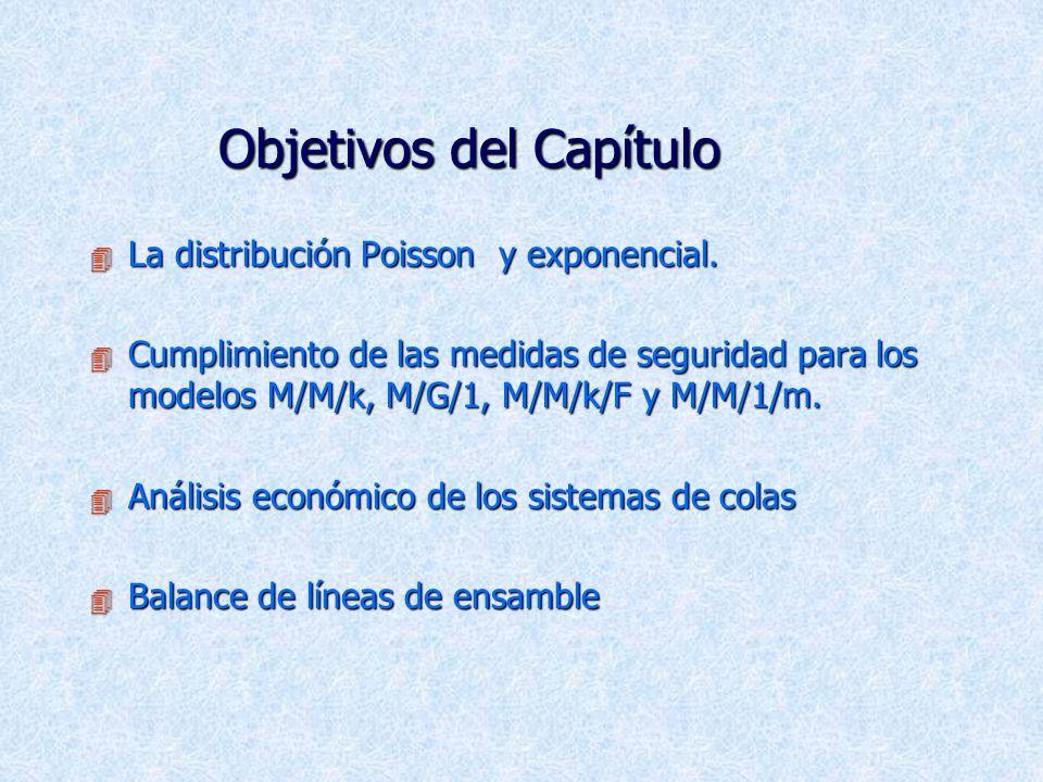 Objetivos del Capítulo 4 La distribución Poisson y exponencial.