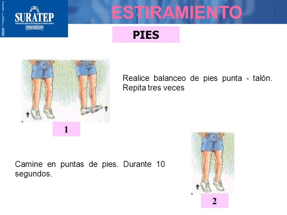 PIERNAS ESTIRAMIENTO 4 Flexione la rodilla derecha (aprox. 90º) y extienda la pierna izquierda atrás manteniendola recta, apoyando todo el peso sobre