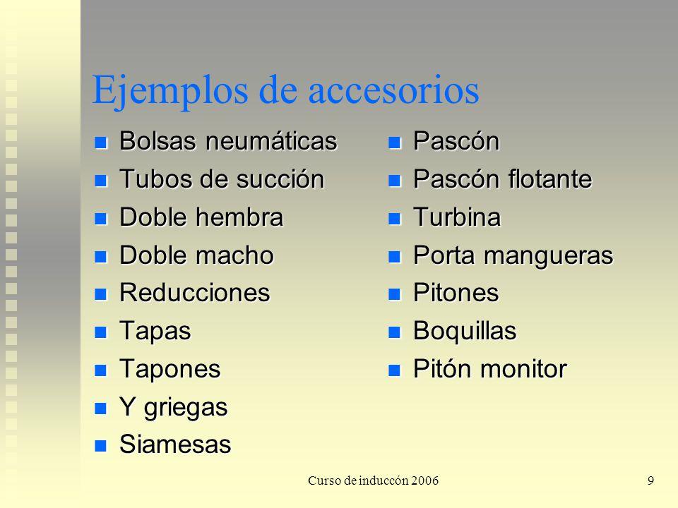 Curso de induccón 200610 Cuidados de los accesorios para el suministro de agua Proteger las roscas, pueden sufrir daño mecánico.