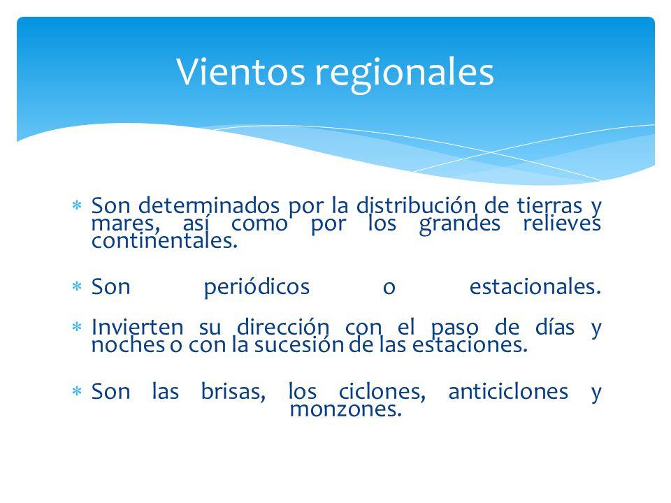Particularidades orográficas de cada región, combinadas con ciertas situaciones meteorológicas dan lugar a vientos locales característicos.