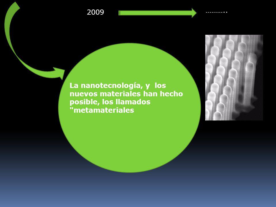 La nanotecnología, y los nuevos materiales han hecho posible, los llamados metamateriales 2009 ………..