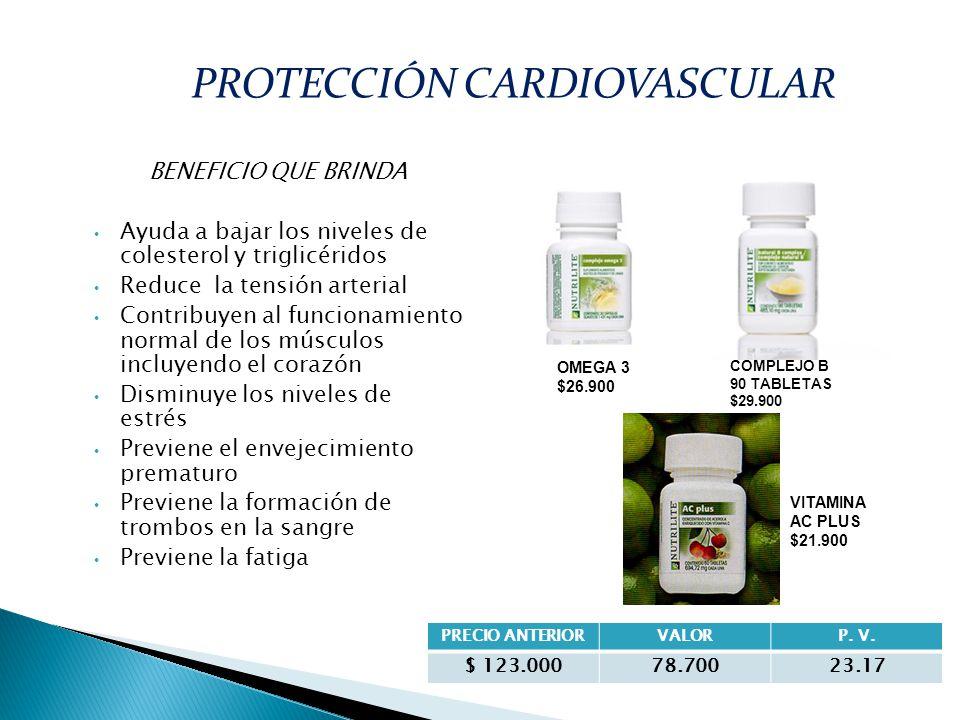 BENEFICIO QUE BRINDA Ayuda a bajar los niveles de colesterol y triglicéridos Reduce la tensión arterial Contribuyen al funcionamiento normal de los mú