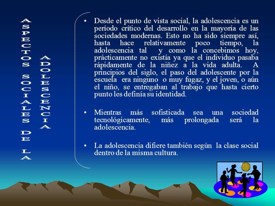 ETAPAS DE LA ADOLESCENCIA –ADOLESCENCIA TEMPRANA: Incluye la fase prepuberal y el comienzo de la pubertad. –ADOLESCENCIA MEDIANA: Usualmente a 18 mese