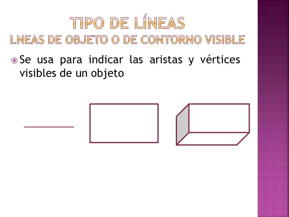 Se usa para indicar las aristas y vértices visibles de un objeto