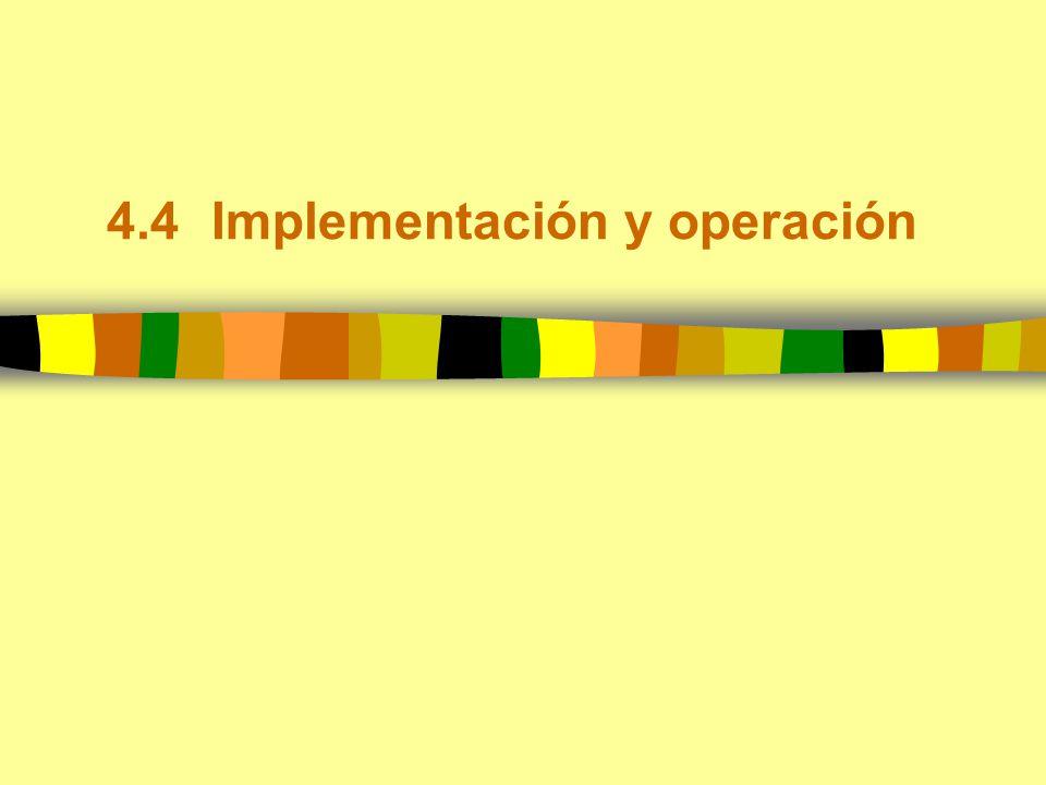 4.4Implementación y operación
