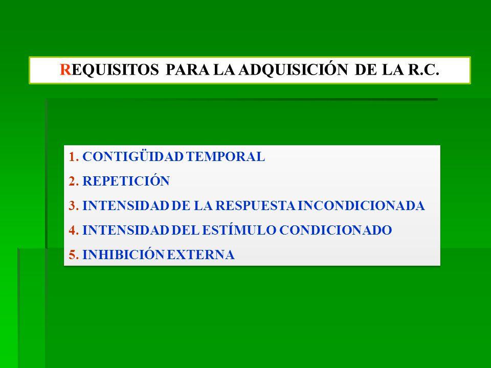 REQUISITOS PARA LA ADQUISICIÓN DE LA R.C.1. CONTIGÜIDAD TEMPORAL 2.