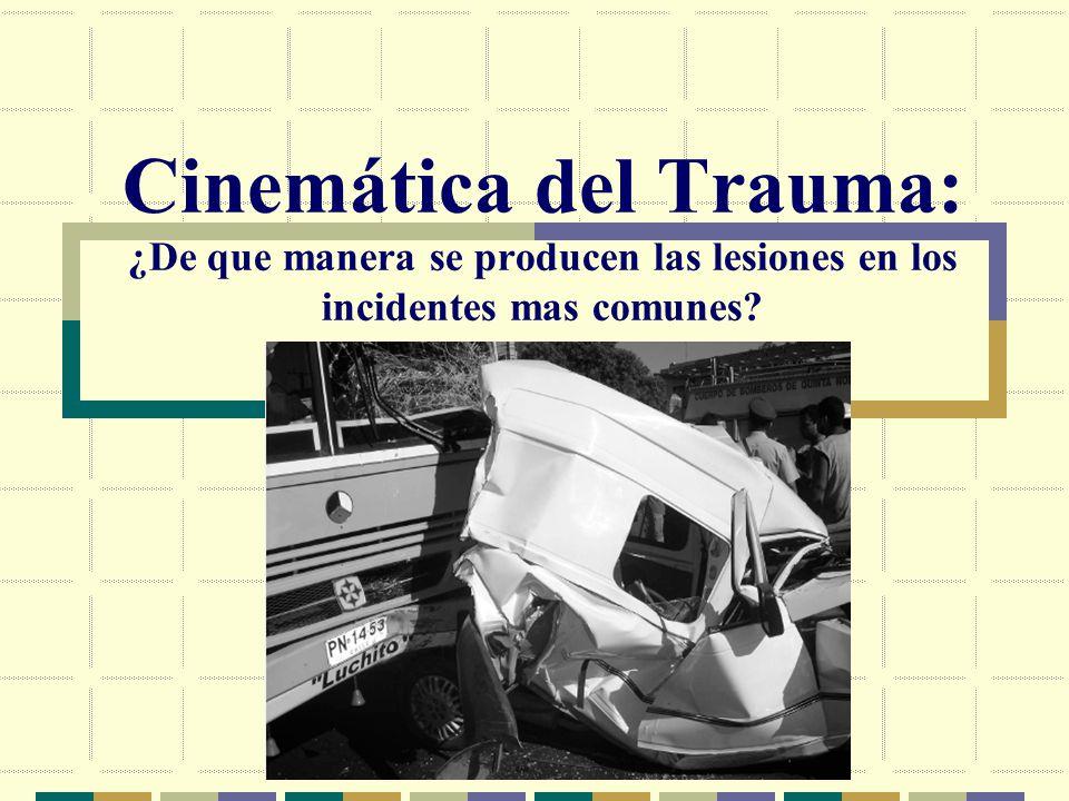 Cinemática del Trauma: ¿De que manera se producen las lesiones en los incidentes mas comunes?
