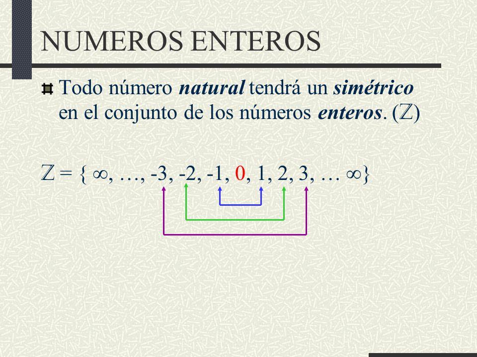 NUMEROS ENTEROS Resta (-) de números enteros http://descartes.cnice.mec.es/materiales_didacticos/naturales1/3x3arn.htm