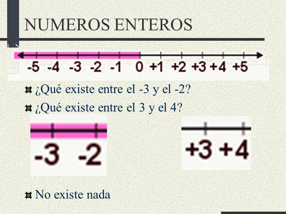 NUMEROS ENTEROS Radicación ( ) de números enteros Tabla de potencias / radicacion.