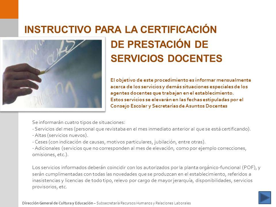 DE PRESTACIÓN DE SERVICIOS DOCENTES El objetivo de este procedimiento es informar mensualmente acerca de los servicios y demás situaciones especiales